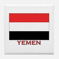 Yemen Flag Merchandise Tile Coaster