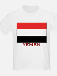 Yemen Flag Merchandise Kids T-Shirt