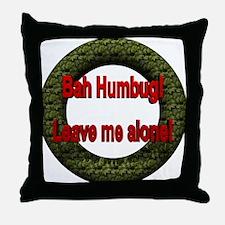 No Holiday Throw Pillow