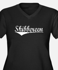 Skibbereen, Vintage Women's Plus Size V-Neck Dark