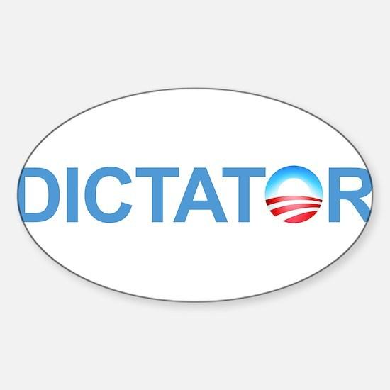 Dictator Sticker (Oval)