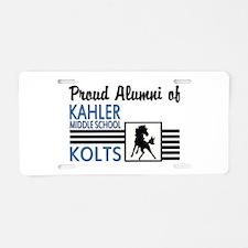 Kahler Alumni Aluminum License Plate