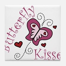 Butterfly Kisses Tile Coaster