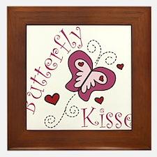 Butterfly Kisses Framed Tile