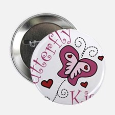 "Butterfly Kisses 2.25"" Button"