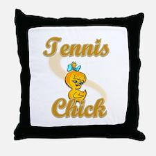 Tennis Chick #2 Throw Pillow