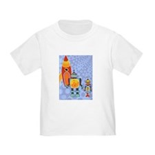 space robots and space rocket_0001 T-Shirt