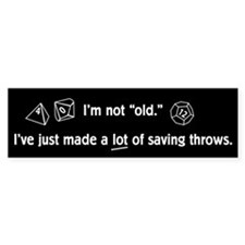 Saving Throw Bumper Sticker