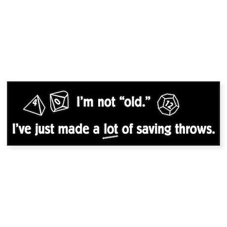 Saving Throw Sticker (Bumper)