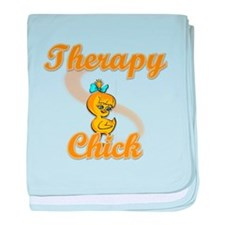 Therapy Chick #2 baby blanket