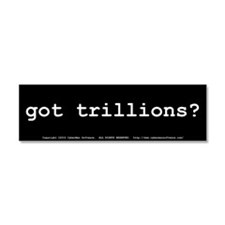 Cool Economic recovery Car Magnet 10 x 3