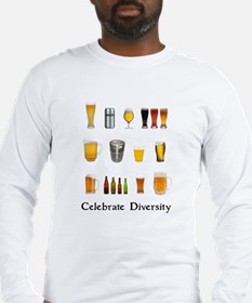 Celebrate Diversity Beer Long Sleeve T-Shirt
