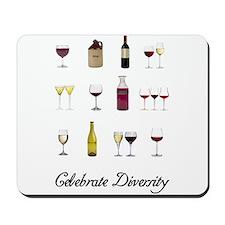 Celebrate Diversity Wine Mousepad