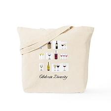 Celebrate Diversity Wine Tote Bag