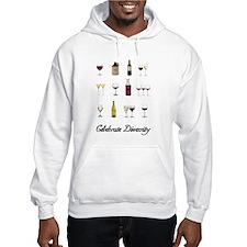 Celebrate Diversity Wine Hoodie