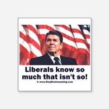 Liberals Know So Much That Is Not So ! Square Stic