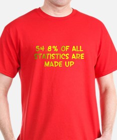 54.8% of all statistics are made up T-Shirt