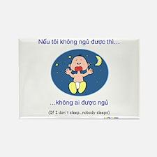 If I Don't Sleep... (Vietnamese) Rectangle Magnet