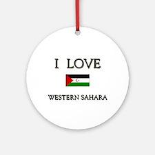 I Love Western Sahara Ornament (Round)