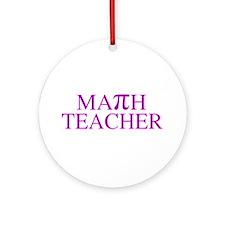 Math Teacher Pi Ornament (Round)