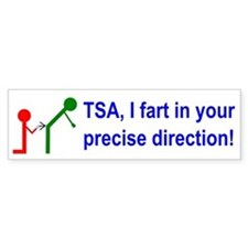 Fart on TSA Bumper Sticker