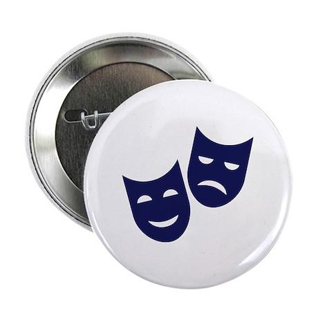 "Theater masks 2.25"" Button"
