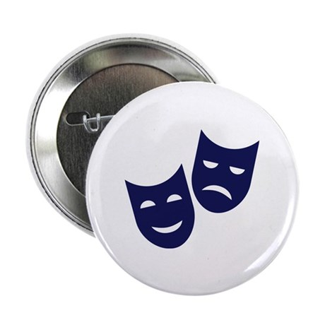 """Theater masks 2.25"""" Button (100 pack)"""