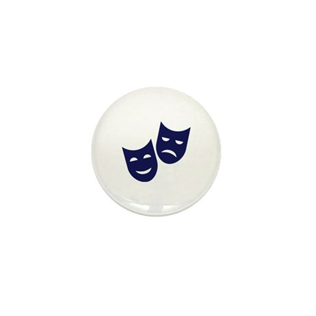 Theater masks Mini Button (10 pack)