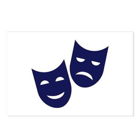Theater masks Postcards (Package of 8)
