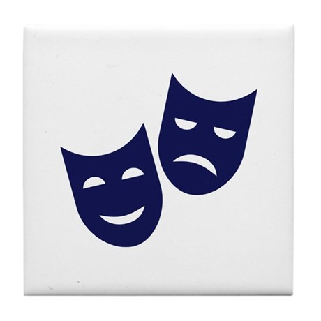 Theater masks Tile Coaster