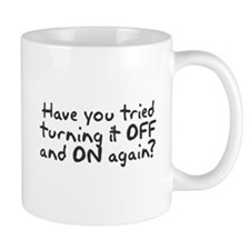 Have you tried turning it off and on? Mug