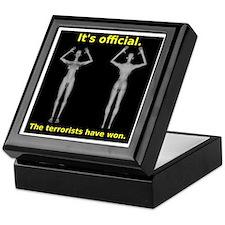 Butt Nekkid Scanners Keepsake Box