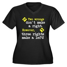 Two wrongs don't make a right Women's Plus Size V-