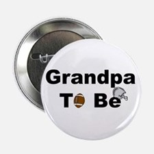 Football Grandpa To Be Button