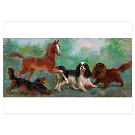Cavalier King Charles Spaniels with Foal Invitatio