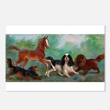 Cute Horse play Postcards (Package of 8)