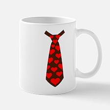 Tie red hearts Mug