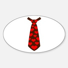Tie red hearts Decal