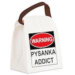 WARNING Pysanka Addict Canvas Lunch Bag