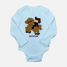 Cute Horse girls Long Sleeve Infant Bodysuit