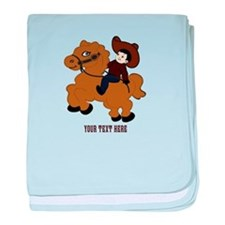 Funny Riding baby blanket