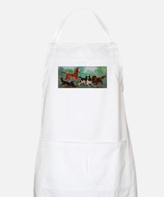 Cavalier King Charles Spaniels with Foal Apron