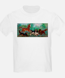 Cavalier King Charles Spaniels with Foal T-Shirt