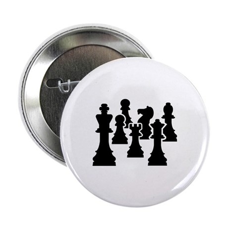 "Chess Chessmen 2.25"" Button (100 pack)"