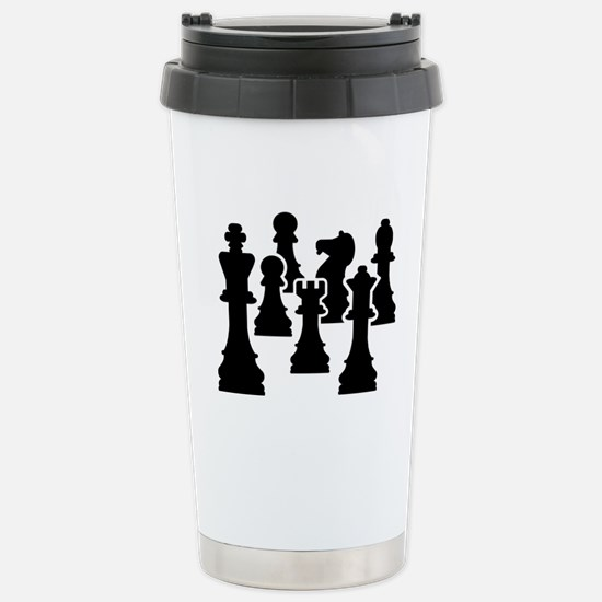 Chess Chessmen Stainless Steel Travel Mug