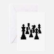Chess Chessmen Greeting Card