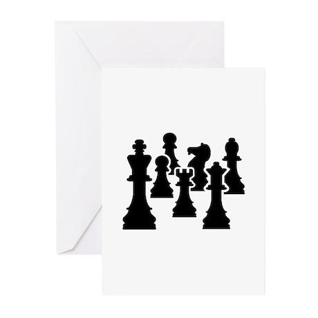 Chess Chessmen Greeting Cards (Pk of 20)