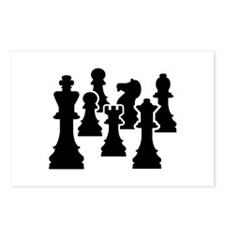Chess Chessmen Postcards (Package of 8)