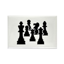 Chess Chessmen Rectangle Magnet