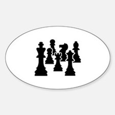 Chess Chessmen Bumper Stickers